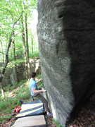 Rock Climbing Photo: Brian McCall on Two Top v4 - Ghost town