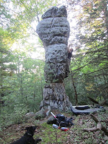 Rock Climbing Photo: Brian McCall on The Torch v3 - Stonenation