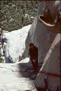 Rock Climbing Photo: Bruce Thompson cleans the 29th pitch on the Nose -...