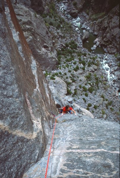 Rock Climbing Photo: Rob Schmidt  on 2nd pitch of the Scenic Cruise - B...