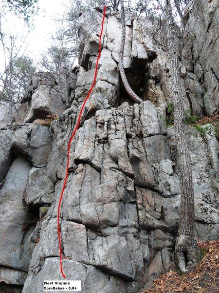 Rock Climbing Photo: WV Cornflakes