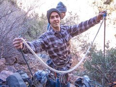 Rock Climbing Photo: This is a pic of Austin at the bottom after he was...