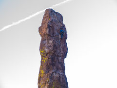Rock Climbing Photo: Austin pulling the crux moves