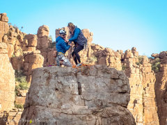 Rock Climbing Photo: Wedding proposal on top of the Totem!  She said ye...