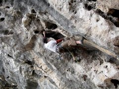 Rock Climbing Photo: Deja, Lei Pi Shan, Yangshuo, China, 5.11a