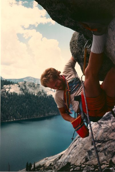 A younger John Warren on Hoodwink roof in the 90's?