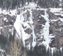 Rock Climbing Photo: Bridalveil Falls, 12/26/2012