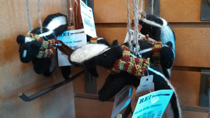Microskunk ornament