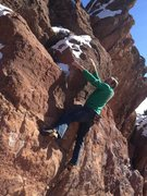 Rock Climbing Photo: Winter conditions.