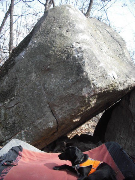 Rock Climbing Photo: Sit start under roof and go up arete.  Very diffic...