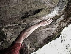 Rock Climbing Photo: Matt making the crux lunge.