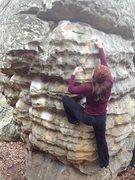 Rock Climbing Photo: Jess on Super Mario