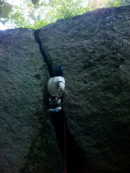 Rock Climbing Photo: Jonathan Garlough getting after it