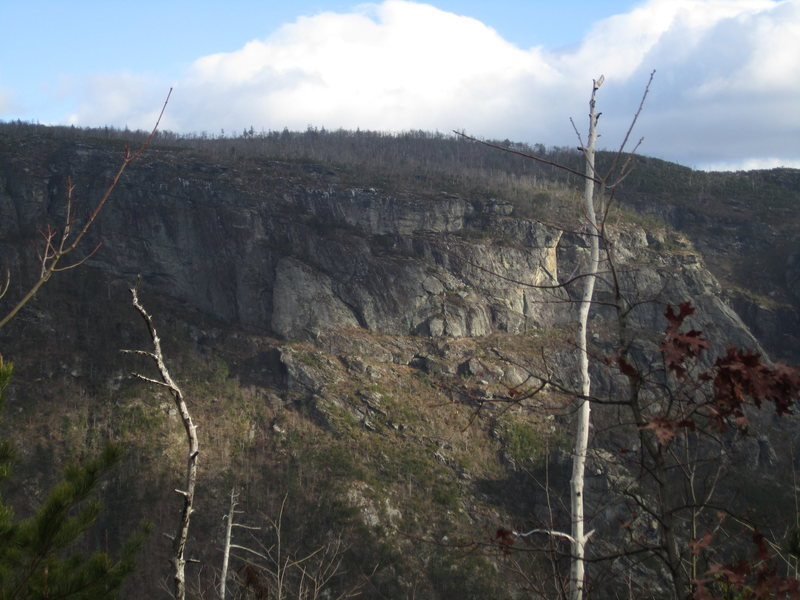 The NC Wall from the Rock Jock Trail