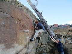 Rock Climbing Photo: Getting established on the lieback.