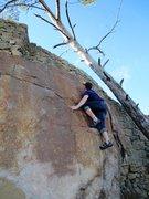 Rock Climbing Photo: Mantle done and enjoying the finishing moves.