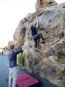 Rock Climbing Photo: Mid crux on Masterlock