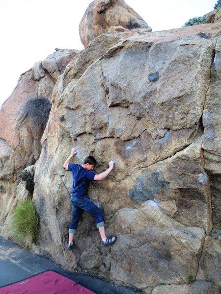 Rock Climbing Photo: Classic pose on Masterlock