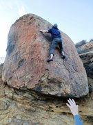 Rock Climbing Photo: Starting the crux sequence on Beryllium.