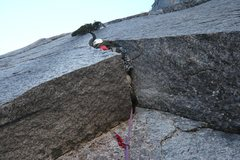 Rock Climbing Photo: The Seeliger Slot. Pitch three.