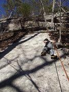 Rock Climbing Photo: Zackary crushing the 5.8 slab