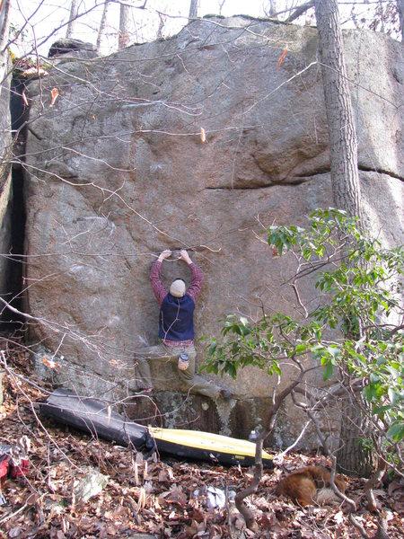 Rock Climbing Photo: climb is on climbers left