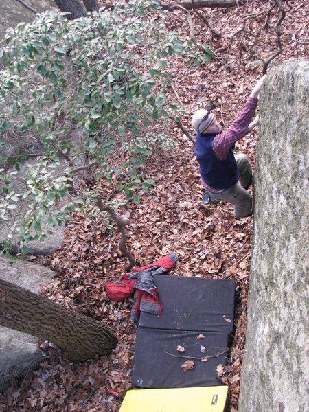 Rock Climbing Photo: around the halfway point
