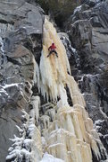 "Rock Climbing Photo: Dave Rone leading a difficult and fragile ""Pa..."