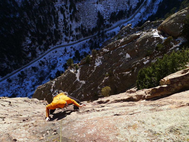 Rock Climbing Photo: Final pitch.