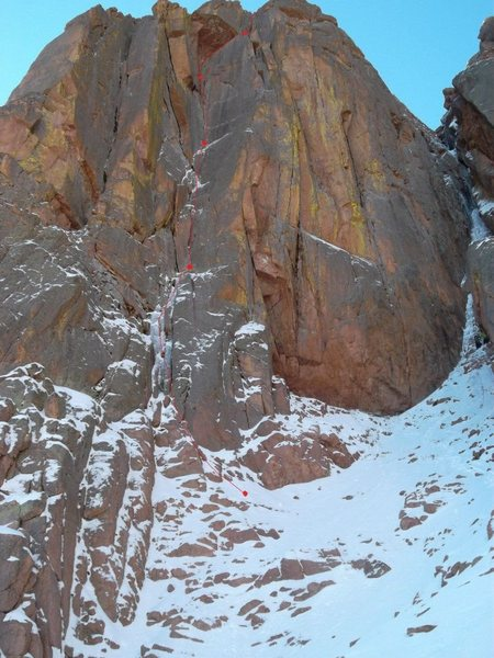 Rock Climbing Photo: The route. Hard to miss!!