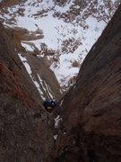 Rock Climbing Photo: Buster following P3.
