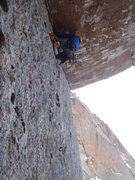 Rock Climbing Photo: Buster OS the crux.