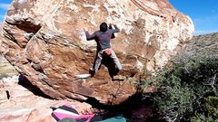 Rock Climbing Photo: Going to the jug.