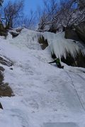 Rock Climbing Photo: Last pitch of the GWI on Jan 2nd 2013.  Good climb...