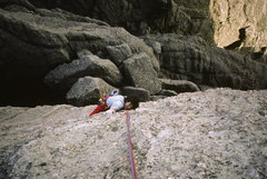 Rock Climbing Photo: Jugs! If you can reach 'em.  Fran Bagenal, wishing...