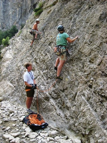 Rock Climbing Photo: Abby and Rob climbing at the Cascade sector