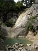 Rock Climbing Photo: Namesake of the Cascade sector?  Creek separating ...