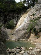 Rock Climbing Photo: Namesake of the Cascade sector?  Creek separating ...