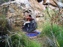 "Rock Climbing Photo: John Daniels climbing ""blazing Saddles"" ..."