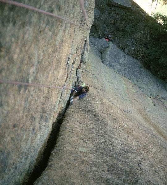 Strappo climbing pitch 2.