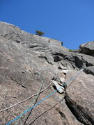 Rock Climbing Photo: Top out slabs.