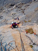 Rock Climbing Photo: Rose is past the crux, Susan is climbing the crux.