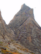 Rock Climbing Photo: The Direct NW buttress of Sharks Nose