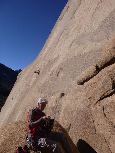Rock Climbing Photo: Jimbo suiting up at the base of the climb