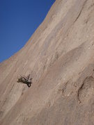 Rock Climbing Photo: Looking up at the blank second pitch
