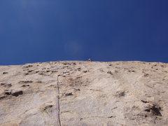 Rock Climbing Photo: Jimbo on pitch 3