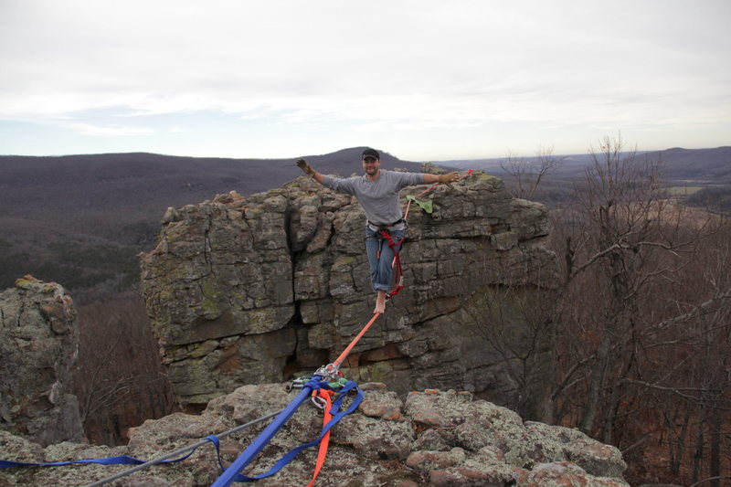 Rock Climbing Photo: Highlining