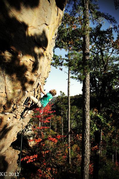 Rock Climbing Photo: Rad route