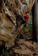 Rock Climbing Photo: Tyler Casey Fuzzy Undercling, Crux Start
