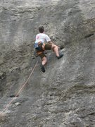 Rock Climbing Photo: Rob settin' up for the grr on What's Up